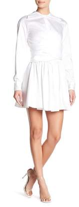Opening Ceremony Sateen Front Wrap Dress