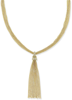 INC International Concepts Gold-Tone Chain Fringe Necklace, Only at Macy's $36.50 thestylecure.com