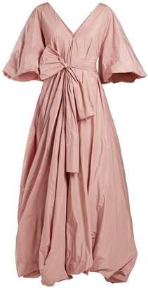 The Row Leegan tie-waist taffeta gown