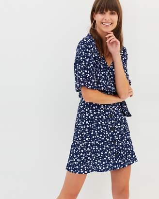 MinkPink Shady Days Button Front Skirt