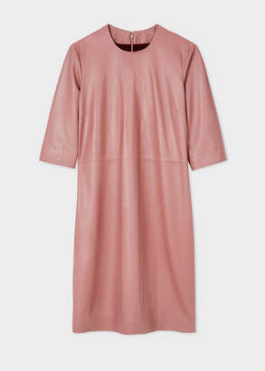 Paul Smith Women's Dusty Pink Leather Shift Dress