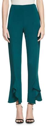 Cushnie et Ochs Julianne Tailored Skinny Ruffle-Hem Pants