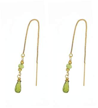 Yvonne Henderson Jewellery - Peridot and Gold Nugget Pull Through Earrings