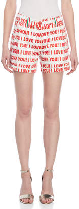 Blugirl Love You Printed Shorts