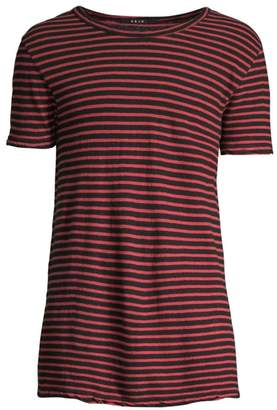 Ksubi Opposite of Opposite Sinister Stripe Linen-Blend Tee