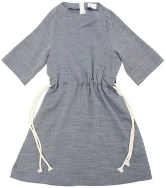 Unlabel LIGHT FLANNEL DRESS W/ ROPE BELT