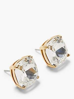 Kate Spade Small Square Stud Earrings, White