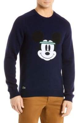 Lacoste Disney Collaboration Mickey Face Sweater