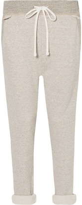 James Perse Cotton-blend Terry Track Pants - Mushroom