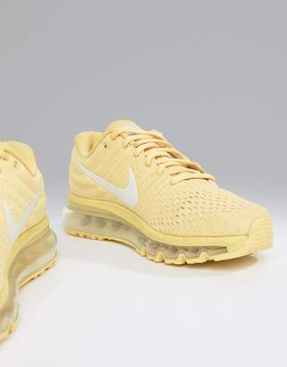 Nike Running Air Max 2017 Trainers In Lemon