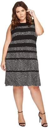 MICHAEL Michael Kors Size Cheetah Paneled Sleeveless Dress Women's Dress