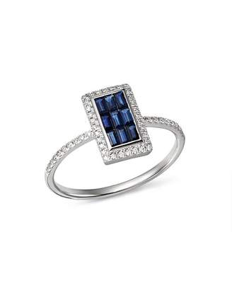 KC Designs 14K White Gold Mosaic Illusion Sapphire & Diamond Ring