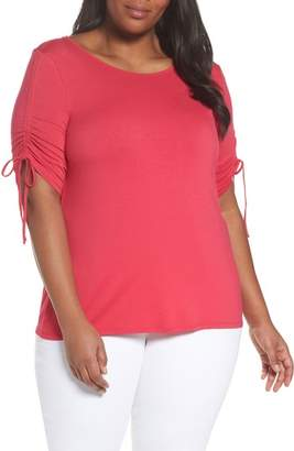 Vince Camuto Drawstring Sleeve Top