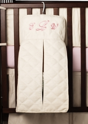 Quilted Ultra Suede Diaper Stacker
