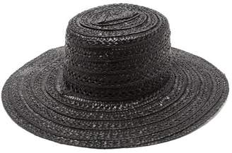 Reinhard Plank Hats - Military Straw Hat - Womens - Black