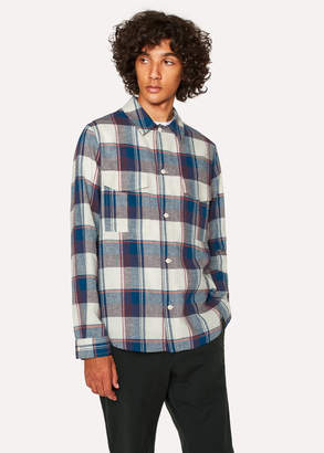 Paul Smith Men's Classic-Fit Blue Check Patch-Pocket Shirt