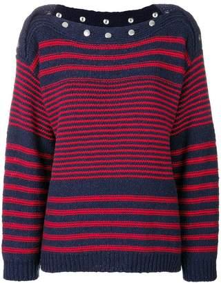 Philosophy di Lorenzo Serafini striped fitted sweater