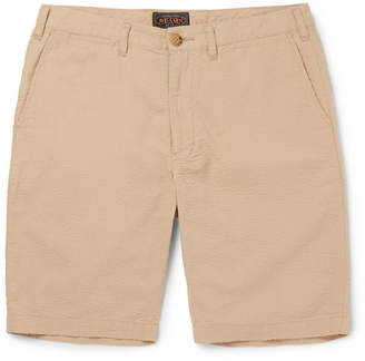 Beams Ivy Slim-Fit Cotton-Seersucker Shorts