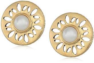 The Sak Perforated Stone Stud Earrings