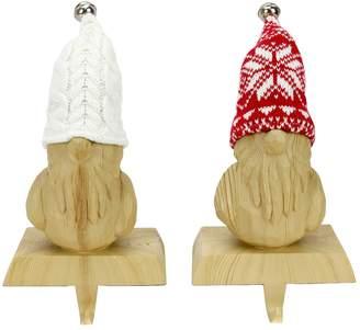 St Nicholas Square Gnome Christmas Stocking Holder 2-piece Set