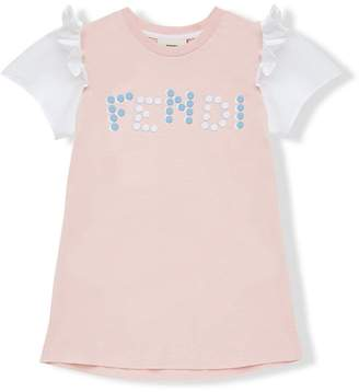 Fendi printed A-line top