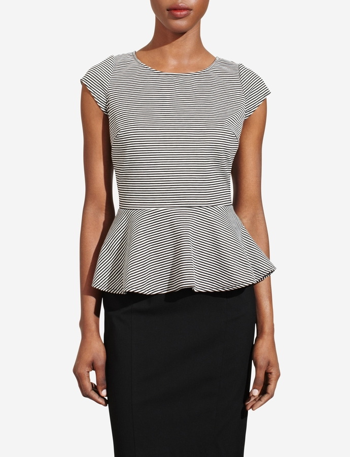 The Limited Striped Peplum Top