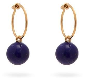 Lapis Theodora Warre Lazuli Ball Hoop Earrings - Womens - Blue