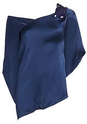 Roland Mouret Women's Heartwell Hammered Silk Top