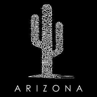 LOS ANGELES POP ART Los Angeles Pop Art Women's Raglan Word Art T-shirt - Arizona Cities