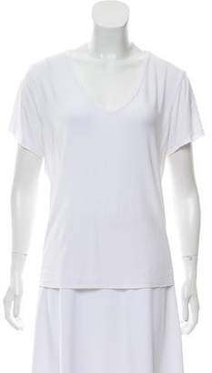 Organic by John Patrick Short Sleeve V-Neck Top