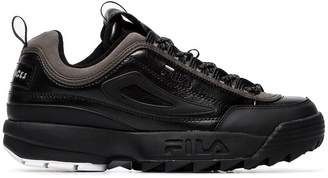 Fila Liam Hodges x black Disruptor leather sneakers