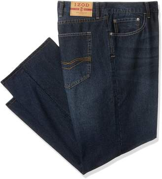 Izod Men's Big and Tall Classic Denim Jeans (Regular and Relaxed Fit), Deep Ocean