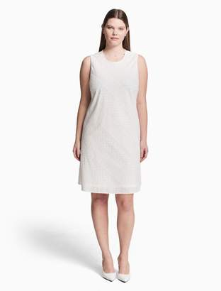 Calvin Klein plus size eyelet trapeze dress