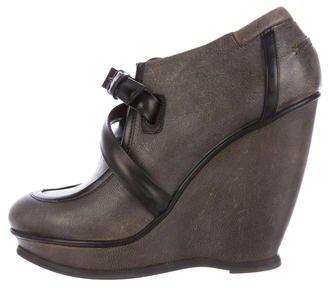 Balenciaga Balenciaga Leather Wedge Booties