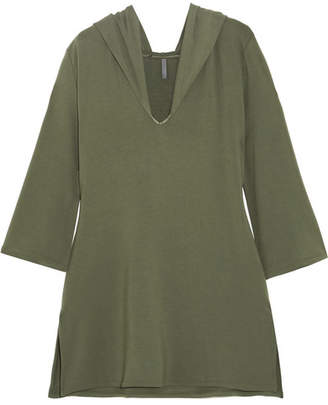 Elle Macpherson Body - Chic Hooded French Terry Nightdress - Army green