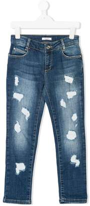 Liu Jo Kids distressed-effect jeans