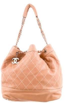 21adebdaadfd Chanel Surpique Drawstring Bucket Bag