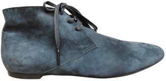 Burberry Blue Suede Ankle boots
