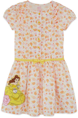 DISNEY Disney Short Sleeve Beauty and the Beast A-Line Dress - Toddler Girls $30 thestylecure.com