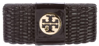 Tory BurchTory Burch Leather-Trimmed Vivian Clutch