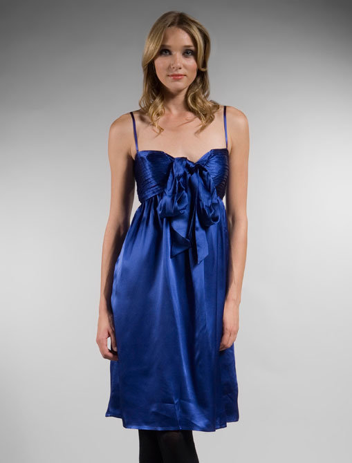 Tocca Avis Hammered Silk Dress