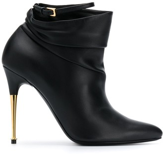 Tom Ford gold-tone heel 110mm ankle boot