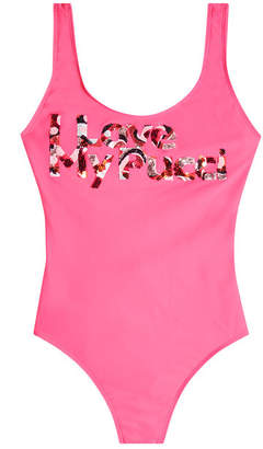 Emilio Pucci I Love My Pucci Swimsuit with Sequins