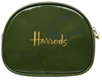Harrods Logo Half-Moon Cosmetic Bag
