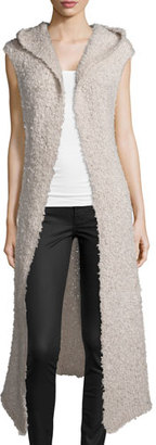 Banjo And Matilda Hooded Open-Front Long Vest, Fawn $395 thestylecure.com