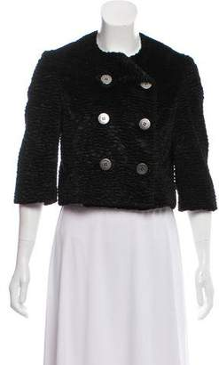 Alexandre Herchcovitch Textured Cropped Jacket