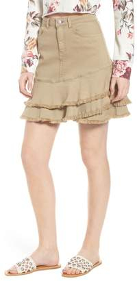 BP Tiered Fray Hem Skirt