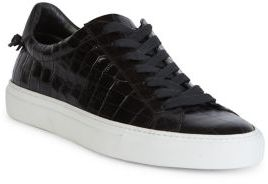 Givenchy Urban Street Line Knot Croc-Embossed Patent Leather Sneakers $525 thestylecure.com