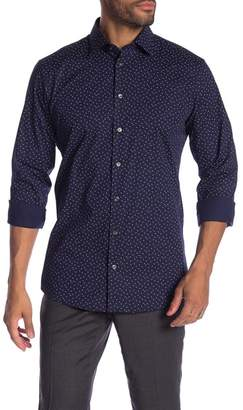 14th & Union Triangle Print Trim Fit Shirt