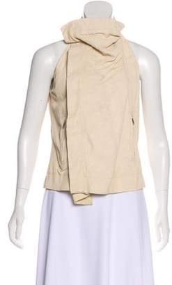 Rick Owens Leather Zip Vest